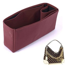 Berri MM Vegan Leather Handbag Organizer in Maroon Color