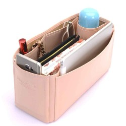 Kelly 35 Deluxe Leather Handbag Organizer in Blush Pink Color