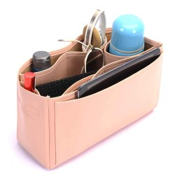 Herbag 31 Deluxe Leather Handbag Organizer in Blush Pink Color
