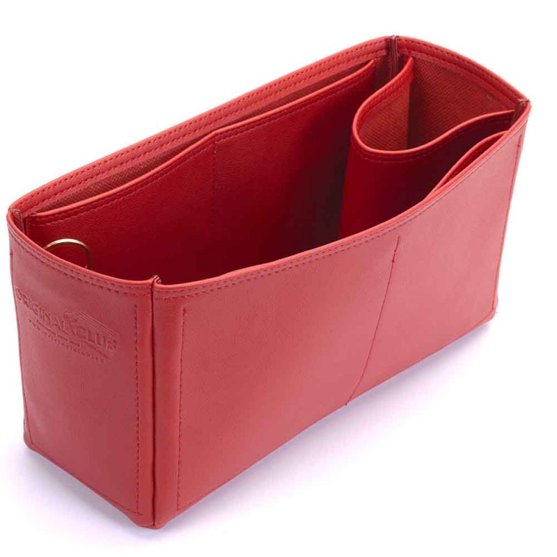 fc22c82b8ab9 Garden Party 30 Deluxe Leather Handbag Organizer in Cherry Red Color
