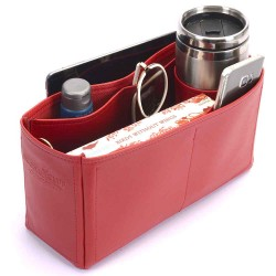 Kelly 32 Deluxe Leather Handbag Organizer in Cherry Red Color