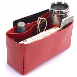 Kelly 32 Vegan Leather Handbag Organizer in Cherry Red Color