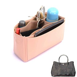 Garden Party 30 Deluxe Leather Handbag Organizer in Blush Pink Color
