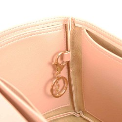 Iena MM Deluxe Leather Handbag Organizer in Blush Pink Color