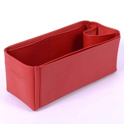 Graceful MM Vegan Leather Handbag Organizer in Cherry Red Color
