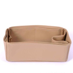 Graceful PM Vegan Leather Handbag Organizer in Dark Beige Color