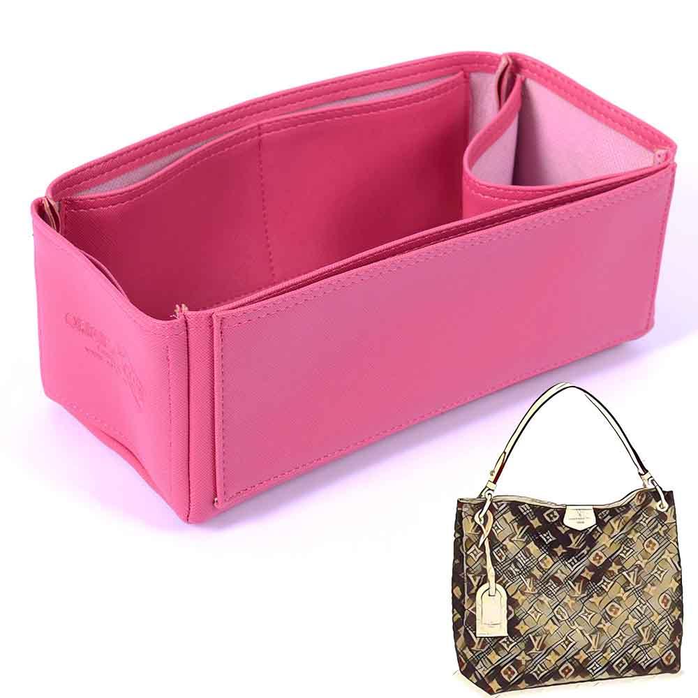 Graceful Pm Deluxe Leather Handbag Organizer In Fuchsia Color