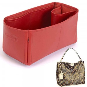 Graceful PM Vegan Leather Handbag Organizer in Cherry Red Color