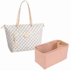 Iena MM Vegan Leather Handbag Organizer in Blush Pink Color