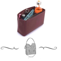 Melie Deluxe Leather Handbag Organizer in Maroon Color