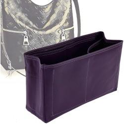 Melie Vegan Leather Handbag Organizer in Aubergine Color