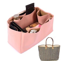 Saint Louis GM and Anjou GM Vegan Leather Handbag Organizer in Blush Pink Color