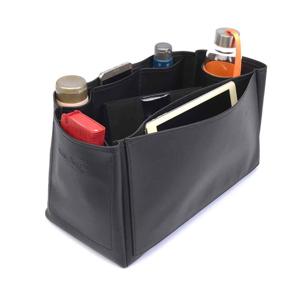 Saint Louis Gm and Anjou Gm Deluxe Leather Handbag Organizer in Black Color