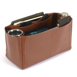 Speedy 40 Deluxe Leather Handbag Organizer in Brown Color