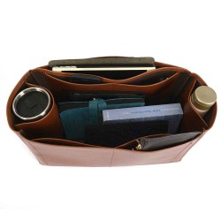 Neverfull GM Deluxe Leather Handbag Organizer in Brown Color