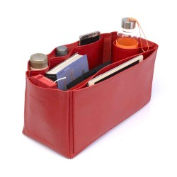 Saint Louis Gm and Anjou Gm Deluxe Leather Handbag Organizer in Cherry Red Color