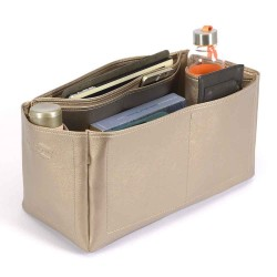 Speedy 40 Deluxe Leather Handbag Organizer in Gold Beige Color