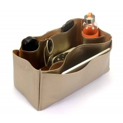 Saint Louis Gm and Anjou Gm Deluxe Leather Handbag Organizer in Gold Beige Color