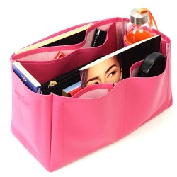 Saint Louis Gm and Anjou Gm Deluxe Leather Handbag Organizer in Fuchsia Color