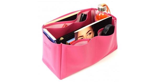 8f3ada6efc Saint Louis Gm and Anjou Gm Deluxe Leather Handbag Organizer in Fuchsia  Color