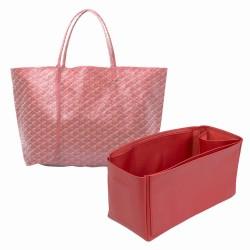 Saint Louis GM and Anjou GM Vegan Leather Handbag Organizer in Cherry Red Color