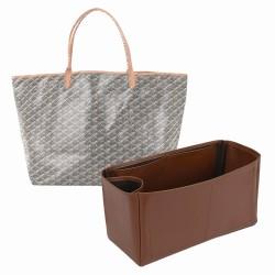 Saint Louis GM and Anjou GM Vegan Leather Handbag Organizer in Brown Color
