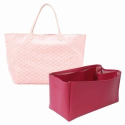 Saint Louis Gm and Anjou Gm Vegan Leather Handbag Organizer in Fuchsia Color
