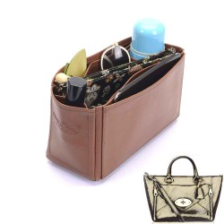 Small Willow Deluxe Leather Handbag Organizer in Brown Color