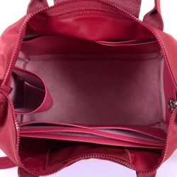 Le Pliage Large and Neo Large Deluxe Leather Handbag Organizer in Fuchsia Color