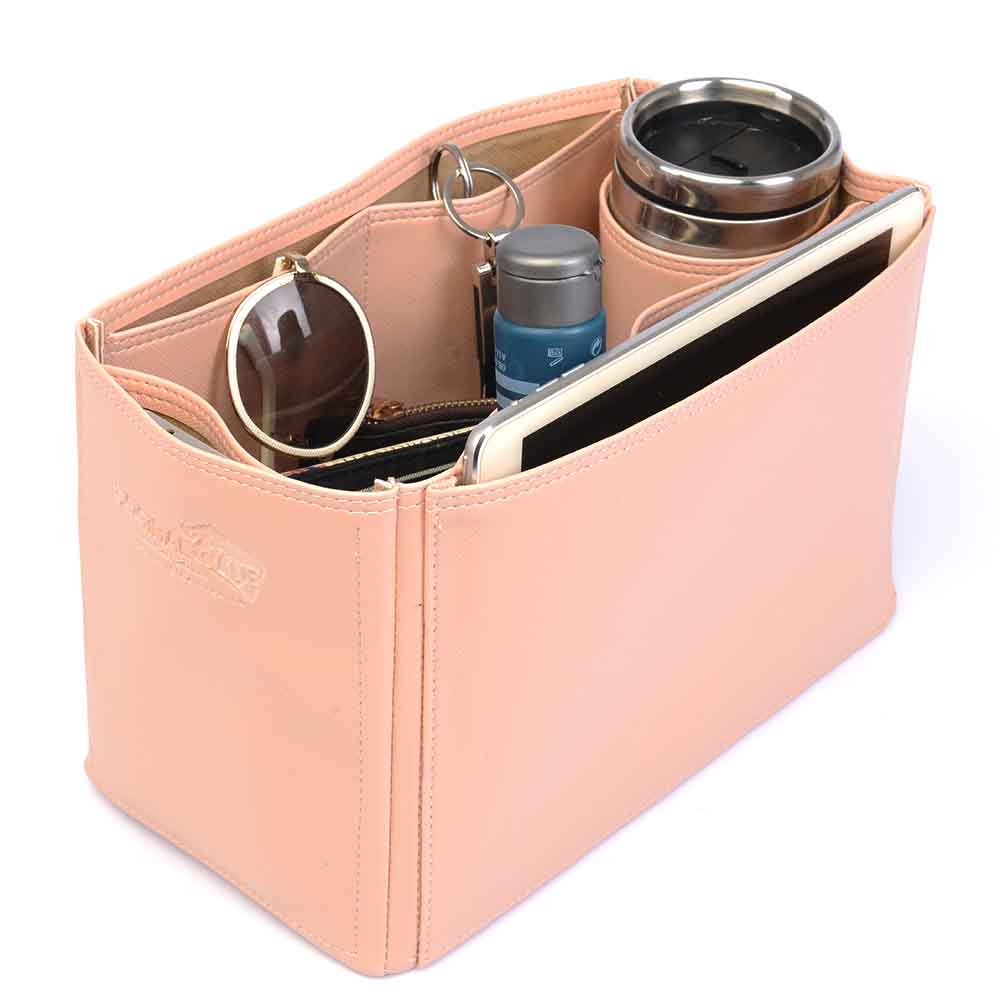 Celine Trapeze Large Deluxe Leather Handbag Organizer in Blush Pink Color