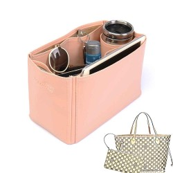 Neverfull MM Deluxe Leather Handbag Organizer in Blush Pink Color