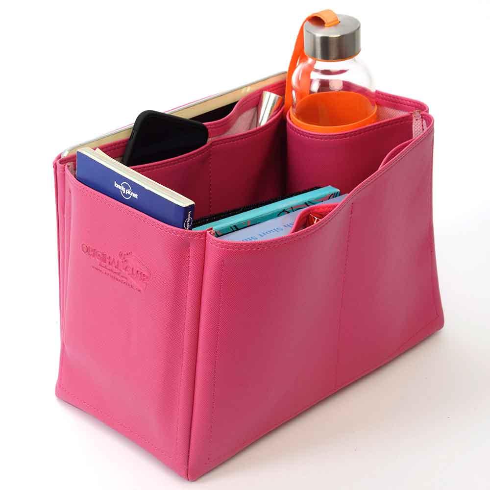 Celine Trapeze Large Deluxe Leather Handbag Organizer in Fuchsia Color