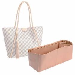 Propriano Vegan Leather Handbag Organizer in Blush Pink