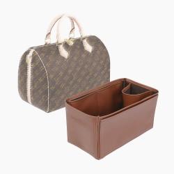 Speedy 30 Vegan Leather Handbag Organizer in Brown Color