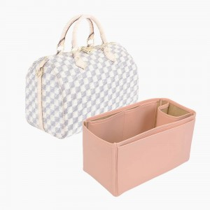 Speedy 30 Vegan Leather Handbag Organizer in Blush Pink Color