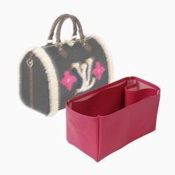 Speedy 30 Vegan Leather Handbag Organizer in Fuchsia Color