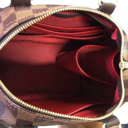 Speedy 25 Vegan Leather Handbag Organizer in Cherry Red Color