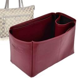 Iena MM Deluxe Leather Handbag Organizer in Oxblood Color