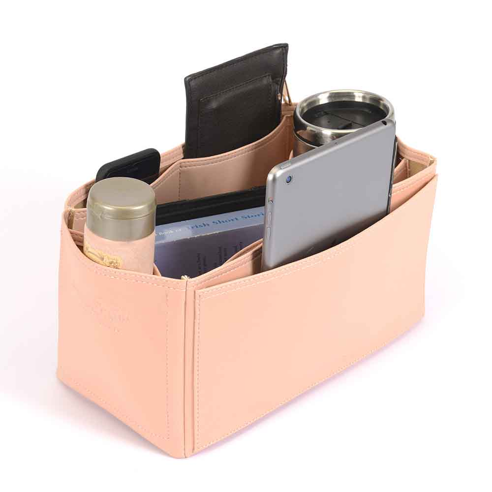 Lindy 30 Vegan Leather Handbag Organizer in Blush Pink Color
