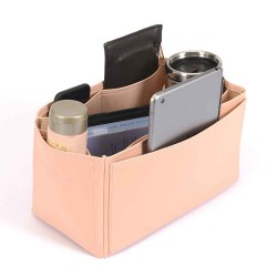 Lindy 30 Deluxe Leather Handbag Organizer in Blush Pink Color