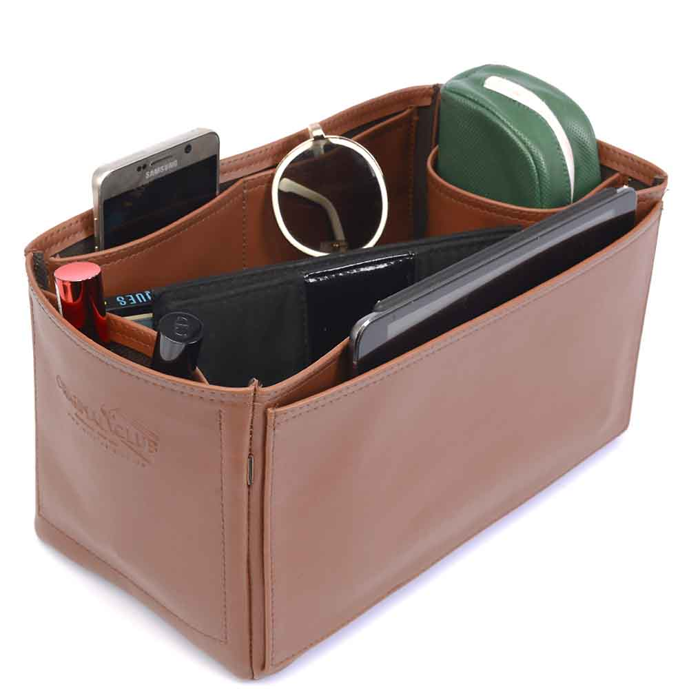 Speedy 30 Deluxe Leather Handbag Organizer in Brown Color
