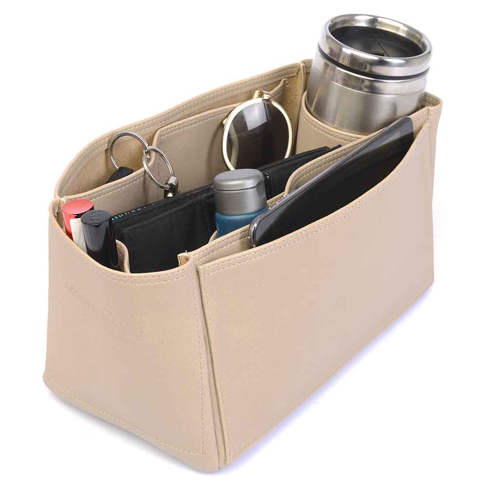 Speedy 30 Deluxe Leather Handbag Organizer in Dark Beige Color