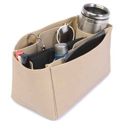 Speedy 30 Vegan Leather Handbag Organizer in Dark Beige Color