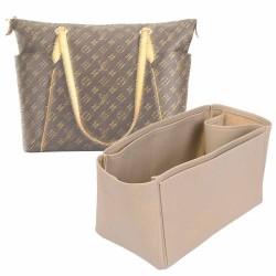 Totally GM Vegan Leather Handbag Organizer in Dark Beige Color