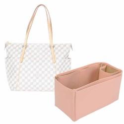 Totally GM Vegan Leather Handbag Organizer in Blush Pink Color