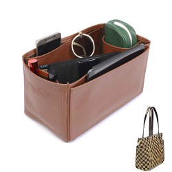 Totally GM Deluxe Leather Handbag Organizer in Brown Color