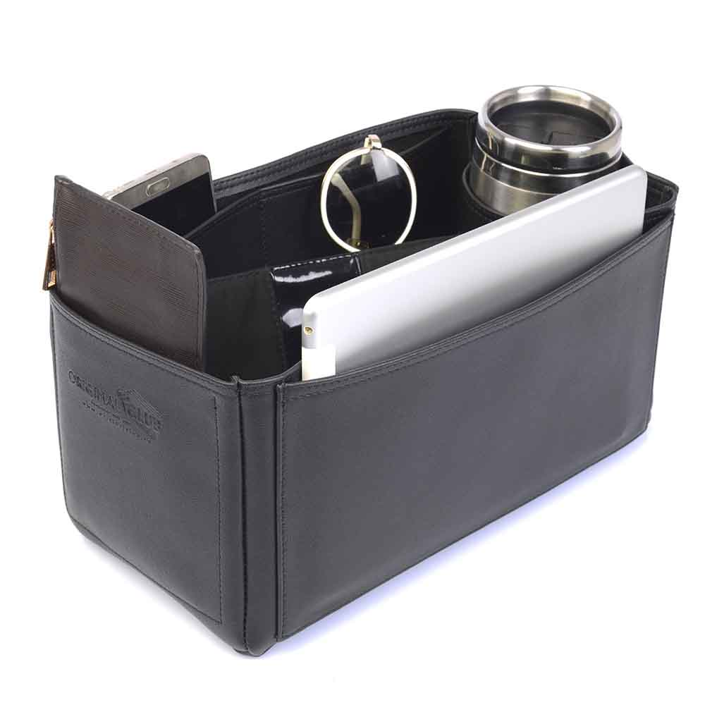 Speedy 35 Deluxe Leather Handbag Organizer in Black Color