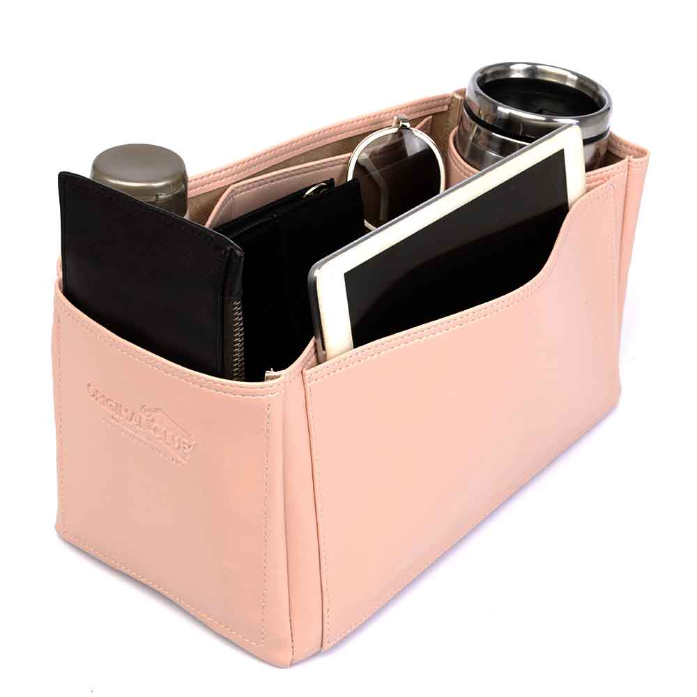Chanel Deauville Deluxe Leather Handbag Organizer in Blush Pink Color