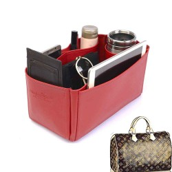 Speedy 35 Deluxe Leather Handbag Organizer in Cherry Red Color