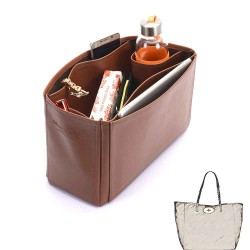 Dorset Medium Deluxe Leather Handbag Organizer in Brown Color